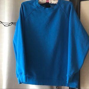 Blue Crew Neck Sweatshirt w Fleece